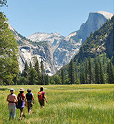 Yosemite walking and hiking photo